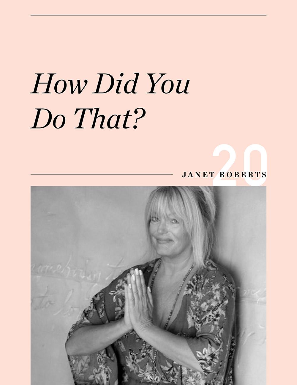 Ellen Fondiler | An Interview with Janet Roberts