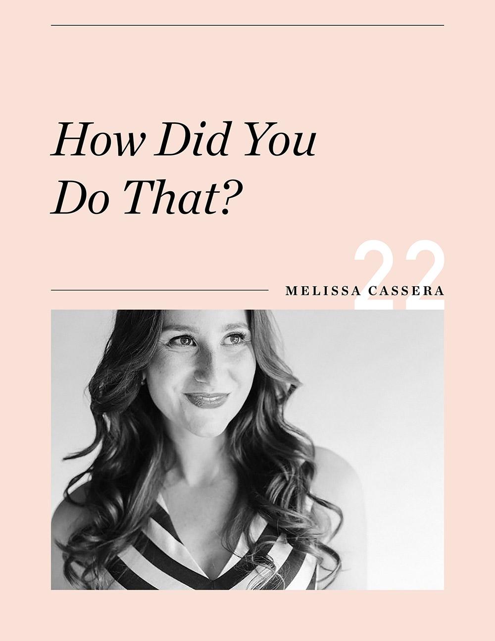Ellen Fondiler | An Interview with Melissa Cassera